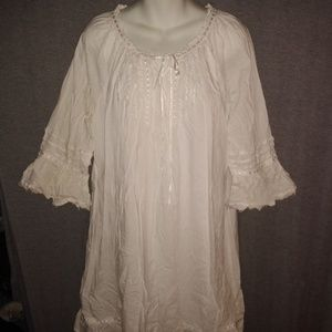 Redoute Creation White Boho Dress 16W Bohemian